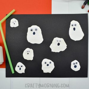 Ghost Blow Straw Craft
