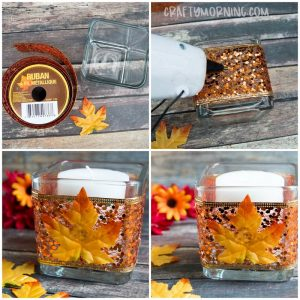 Easy Fall Candle Holder