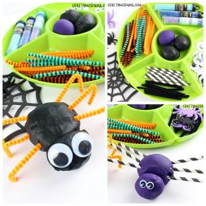 Build a Spider Playdough Activity