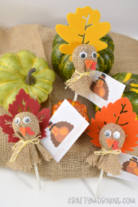 Turkey Lollipop Treats for Thanksgiving