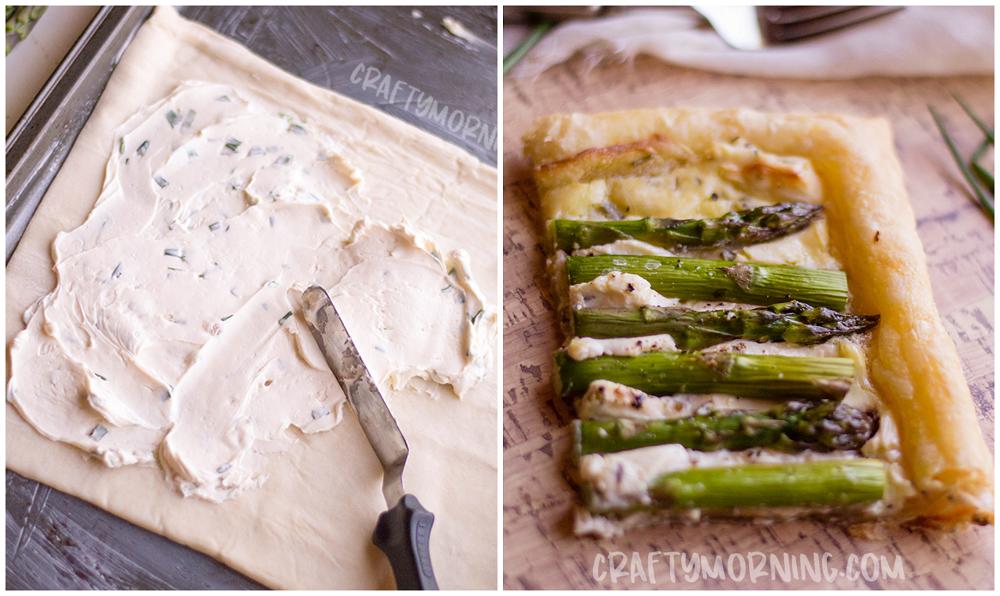 Asparagus Pastry Tarts Recipe
