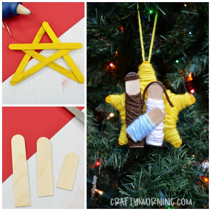 Popsicle Stick Nativity Ornament Craft