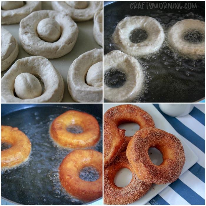 Easy Cinnamon Sugar Doughnuts