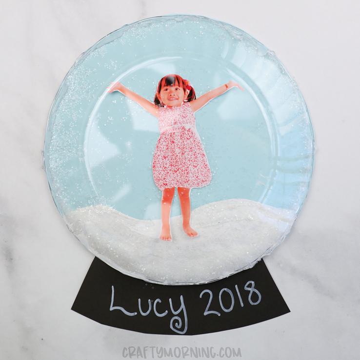 3D Clear Plate Snow Globe Keepsakes