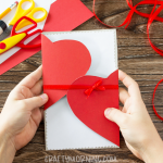 DIY Folded Heart Card