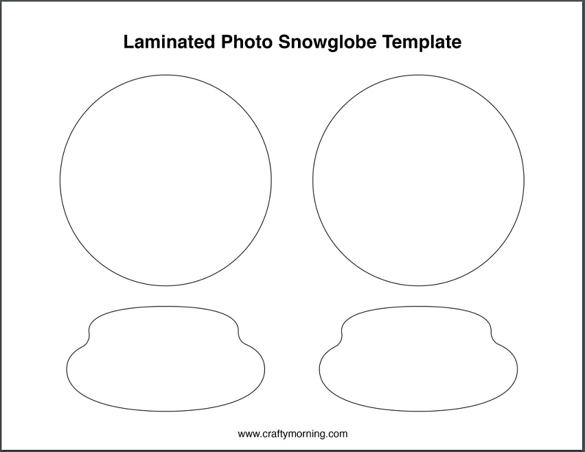 picture regarding Printable Globes named Free of charge Laminated Snow Entire world Template - Cunning Early morning