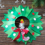 Paper Plate Christmas Wreath Craft