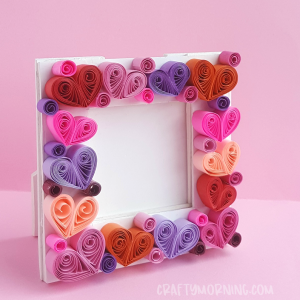 Quilled Heart Photo Frame