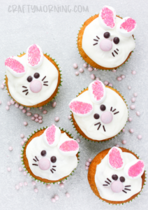 Bunny Cupcakes with Marshmallow Ears