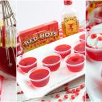 Cinnamon Red Hot Jello Shots