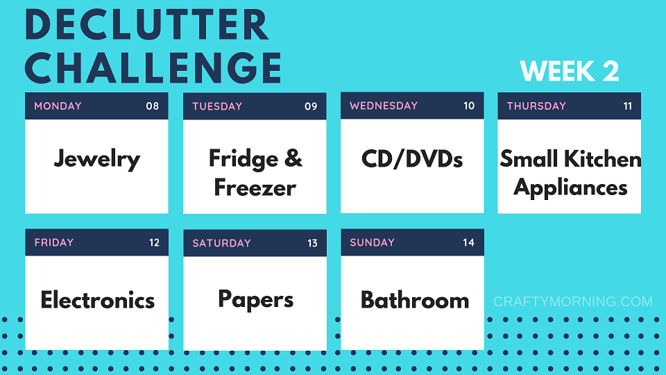 The 2 Week Declutter Challenge - Crafty Morning