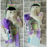 Funny Toilet Paper Roll & Air Freshener Lady Holder
