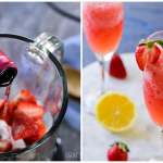 Frozen Rose Wine Slushies