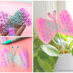 Bubble Wrap Butterfly Stamps