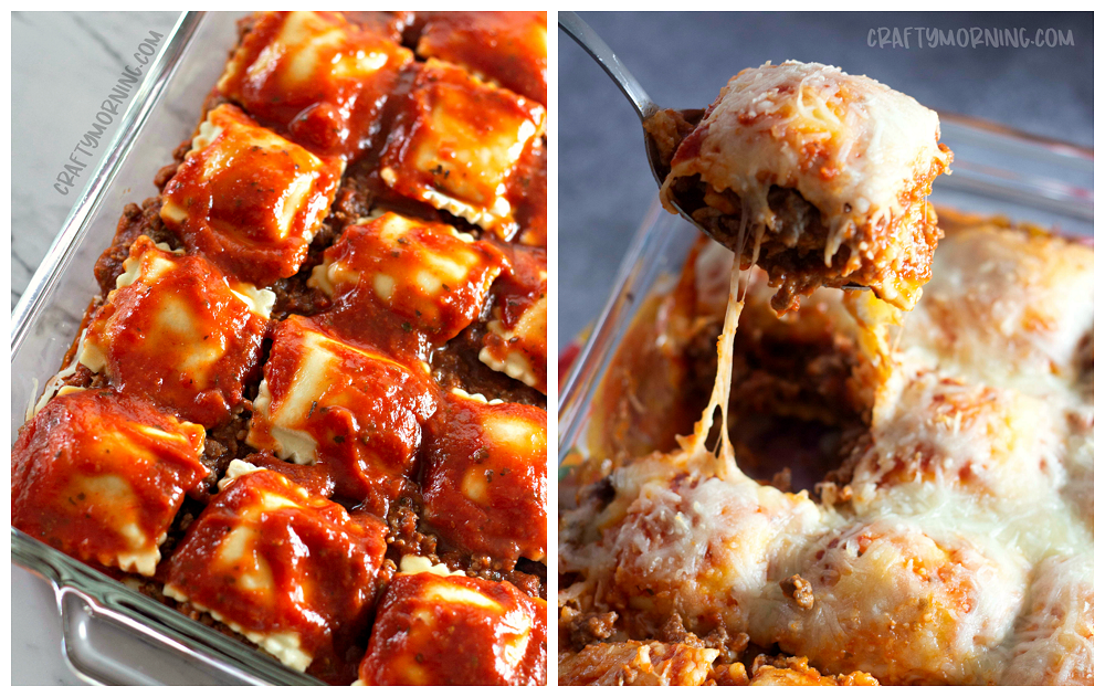 Lazy Lasagna: Baked Ravioli Casserole