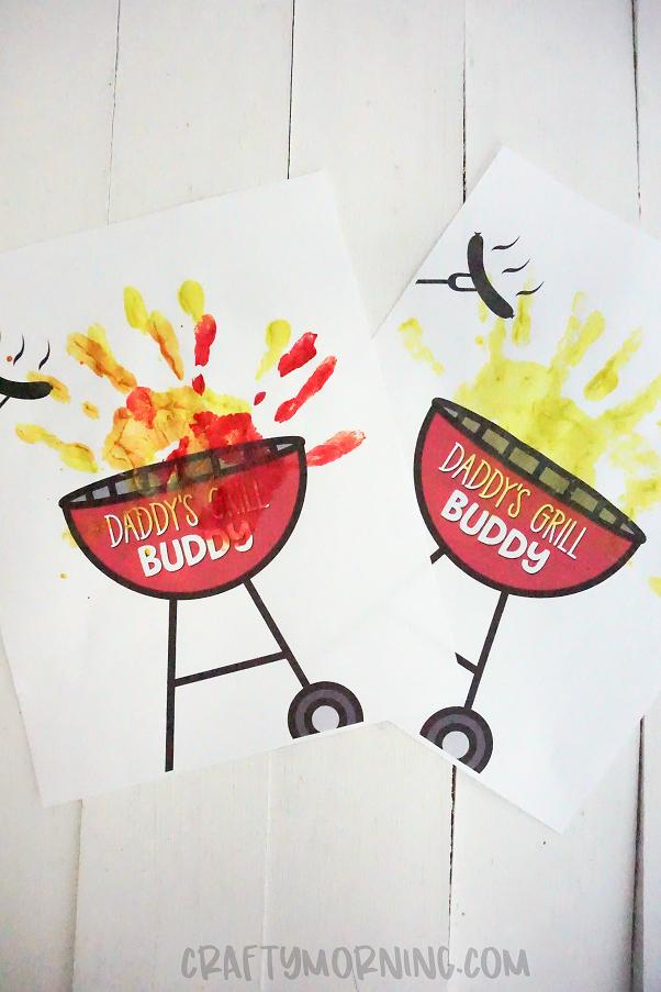 Daddy's Grill Buddy Handprint Printable