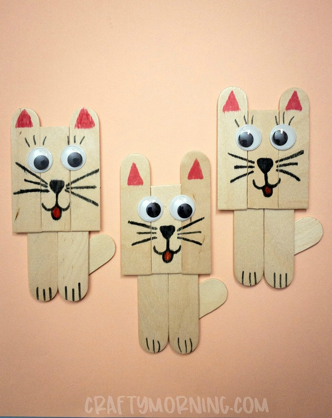 Popsicle Stick Kitty Craft