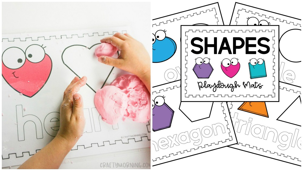 Printable Playdough Shape Mats