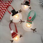 Melted Snowman Tea Light Ornaments
