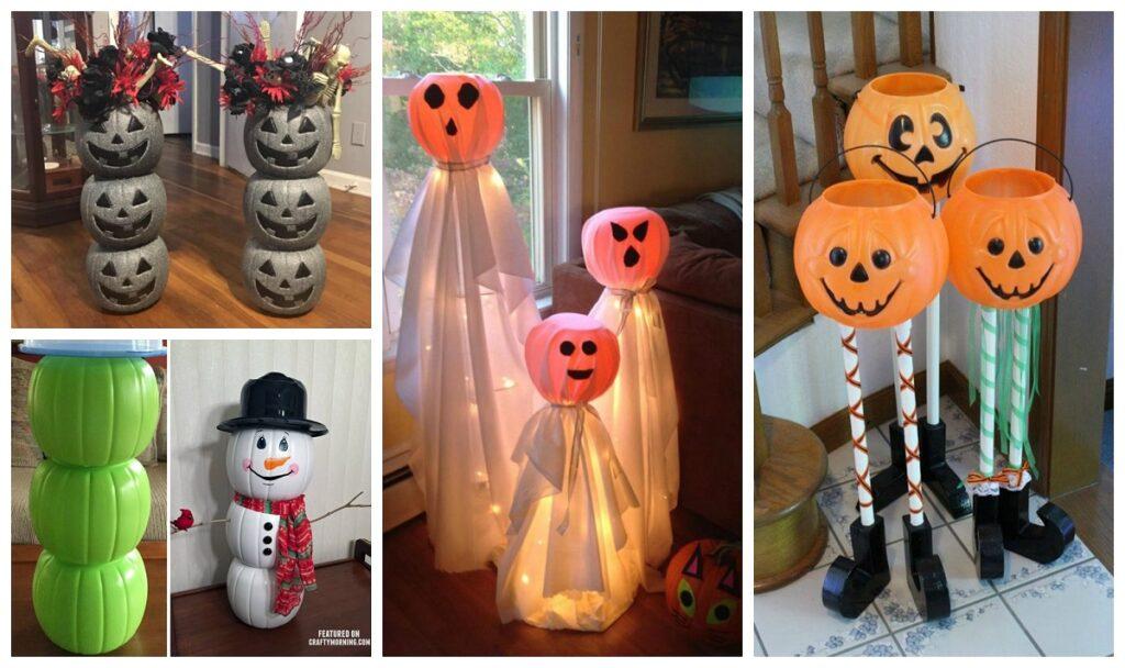 Dollar Plastic Pumpkin Bucket Craft Ideas Crafty Morning