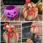 Make a Chic Burlap Pumpkin from a $1 Bucket