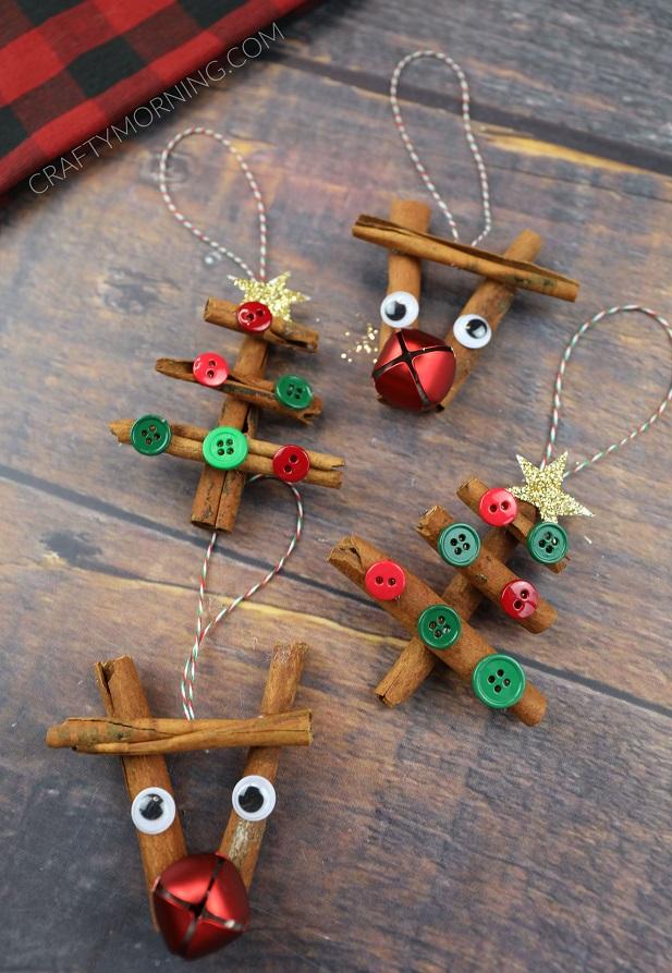 Cinnamon Stick Reindeer & Tree Ornaments