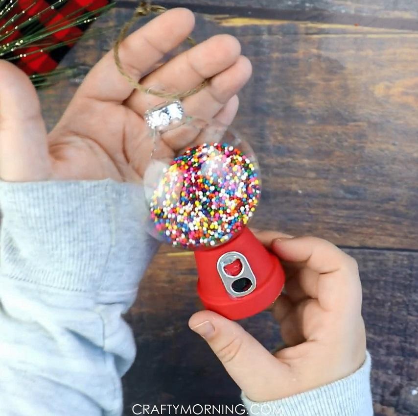 DIY Gumball Machine Ornament