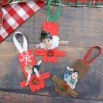 Sledding Popsicle Stick Ornaments