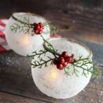 Snowy Frosted Candle Holders