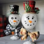 Wine Glass Snowmen