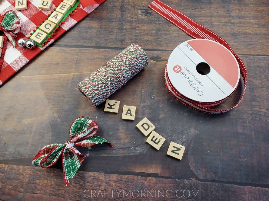 Scrabble name tiles name ornaments Personalized ornament. Christmas ornament Scrabble tile Christmas ornament
