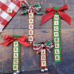 Personalized Scrabble Tile Ornaments