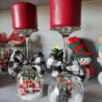 Wine Glass Snow Globe Candle Holders