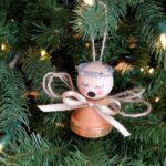 Mini Flower Pot Angel Ornaments