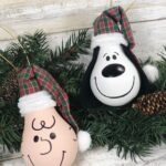 Snoopy & Charlie Brown Light Bulb Ornaments