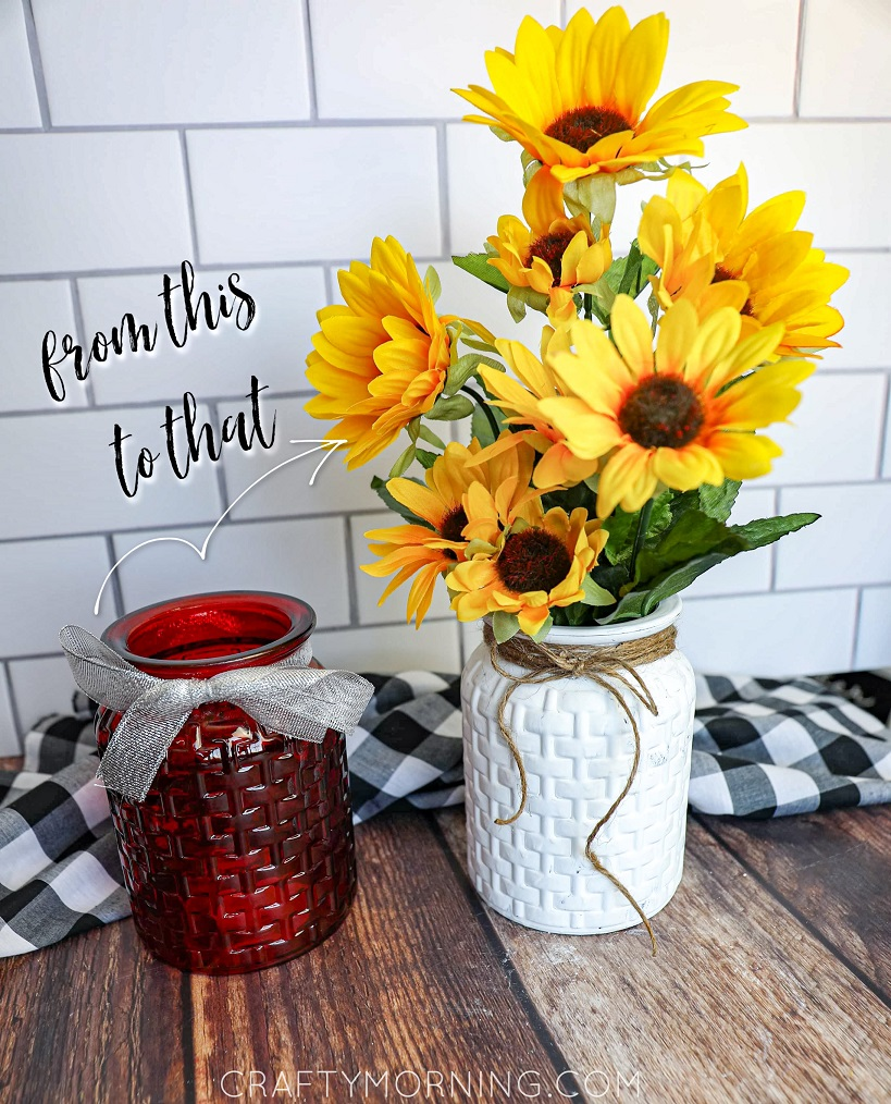 Dollar Tree Farmhouse Vase Makeover