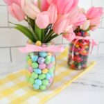 Mason Jar Easter Centerpieces