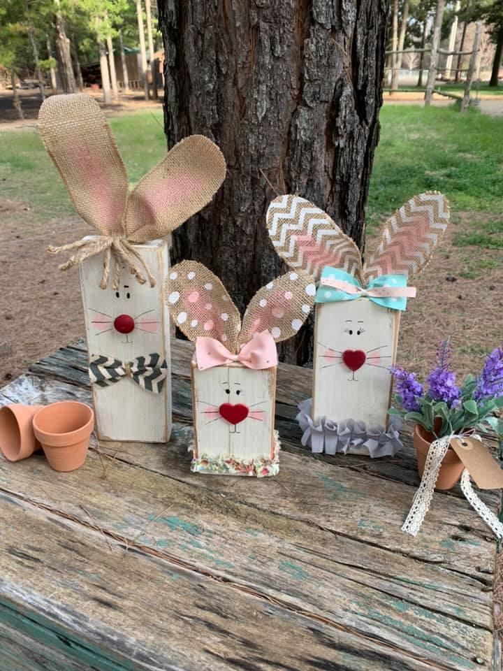Make Wood Bunnies