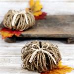 How to Make Twine Pumpkins