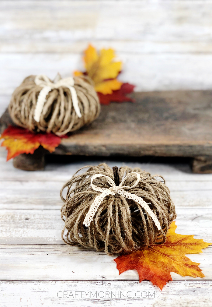 How to Make Twine Pumpkins