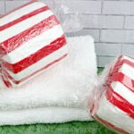 Toilet Paper Roll Peppermint Decor