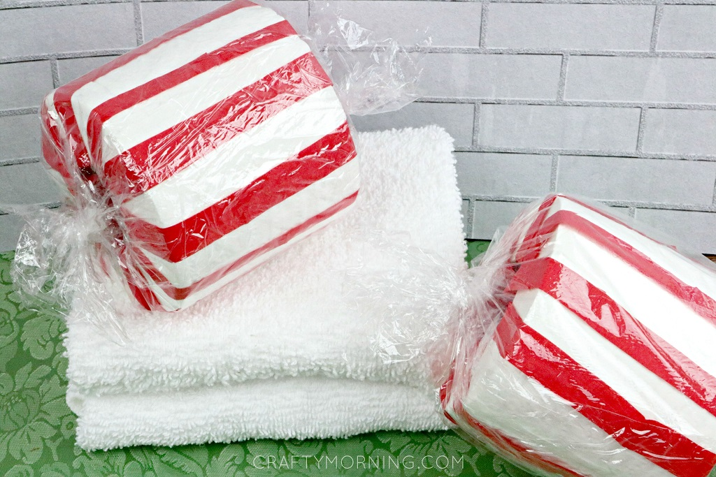 Toilet Paper Roll Peppermint Decor