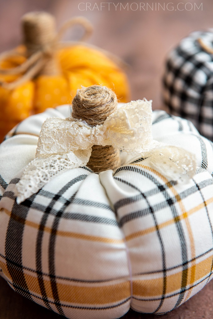 How To Make Fabric Pumpkins Crafty Morning