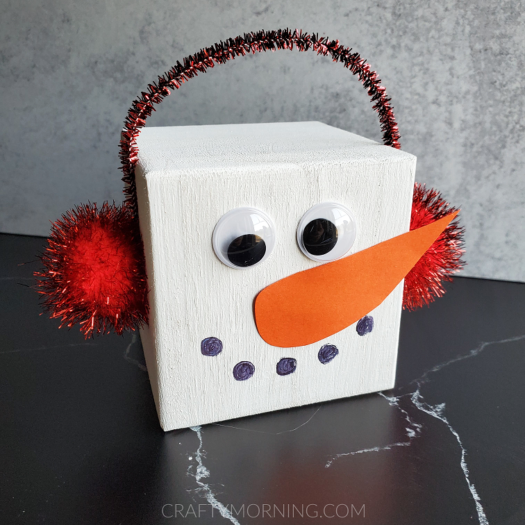 Wood Block Snowman Craft