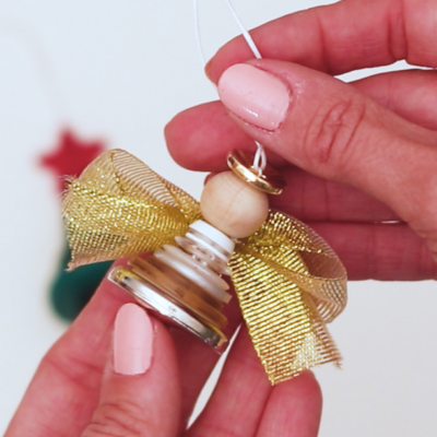 How to Make a Button Angel Ornament
