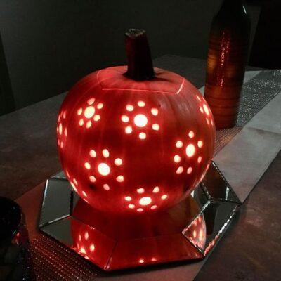 Drill Bit Pumpkin Decorating