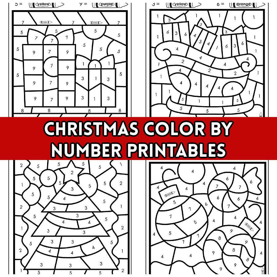 Christmas Color By Number Printables Crafty Morning