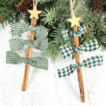 Knotted Cinnamon Stick Tree Ornaments