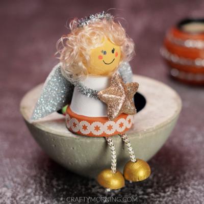 Mini Flower Pot Angel Craft