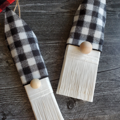 Paintbrush Gnome Ornaments